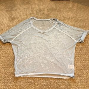 Free people - women's size small light blue top
